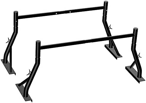 Truck Ladder Rack 800lbs Capacity Heavy Duty Extendable Universal Pickup Rack Two bar Set Matte product image