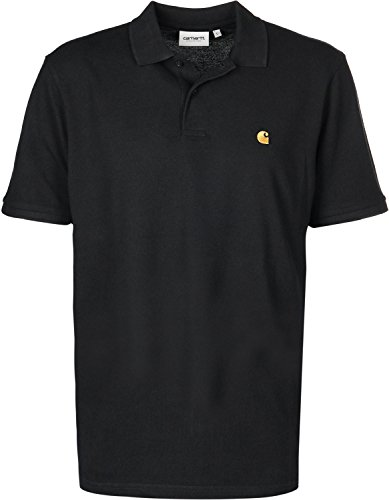 Carhartt WIP Chase Pique Polo Black/Gold