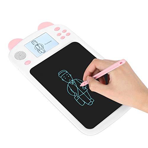 Tabletas de dibujo para niños, tablero de escritura LCD de transmisión de voz, tablero de dibujo digital sin luz azul para niños, dibujo, aprender a dibujar(Rosado, Tipo de torre inclinada de Pisa)