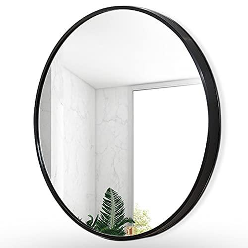 Specchio, Rotondo Specchio da Bagno LED, Specchio Illuminato Retroilluminato, Specchio Tondo Metallo Cornice a Parete, Specchio Cosmetico per La Rasatura (Nero/Oro/Argento)