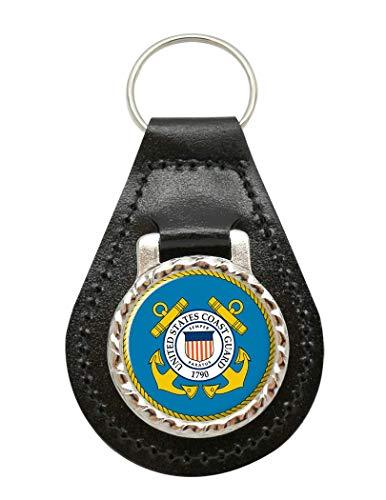 Estados Unidos Coast Guard Cuero Llavero