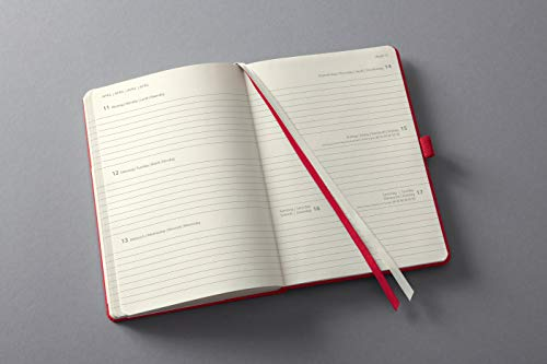 Sigel C2264 Conceptum Weekly Planner 2022-14,8 x 21,3 cm – hardcover – 192 Pages – red
