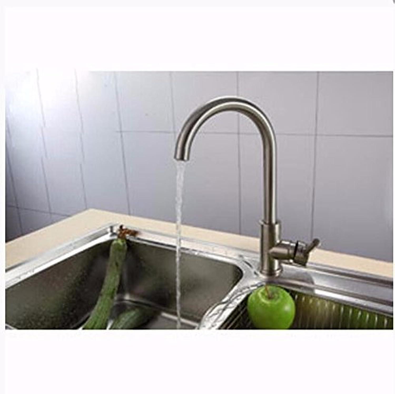Küche mit herausziehbarer Dual-Spülbrause,Kaltes Heies Wassert Robinet de cuisine en cuivre, robinet brossé, robinet de cuisine de salle de bain, robinet d'évier rotatif chaud et froid