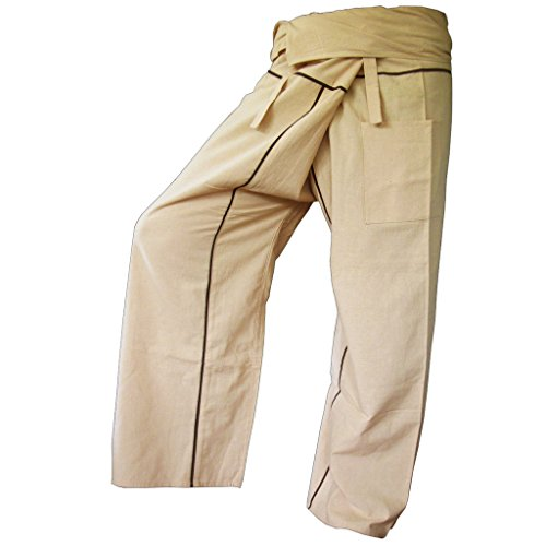 PANASIAM Fisherman Pants Stripe-Design, beige, XL