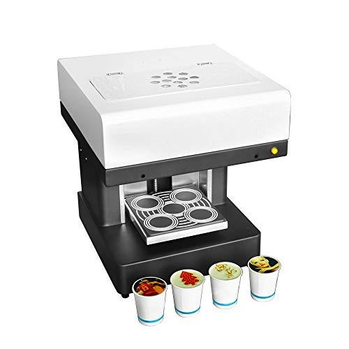 Impresora De Café En 3D, Impresora De Arte De Café Con Leche, Impresora De Arte De 4 Tazas De Café Con Leche Para Selfies, Impresora De Tinta Comestible Totalmente Automática (blanco)(Size:220v)