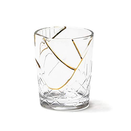 SELETTI 'KINTSUGI Collezione Piatti Ispirata dalla Tecnica Giapponese, Bicchiere 09656