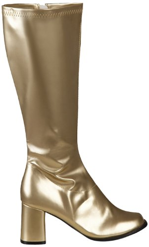Boland 46272 - 1 Paar Stiefel 70s Retro Disco Gold Gr. 38