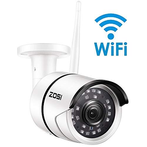 Überwachungskamerazosi 1080P WiFi Ip Kamera Onvif 2.0Mp Hd Outdoor Wetterfest Infrarot Nachtsicht Sicherheit Videoüberwachungskamera Mit 64Gb