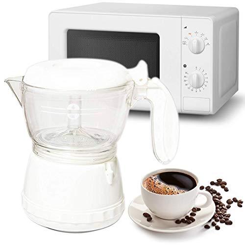 MovilCom® - Caffettiera per microonde, da viaggio, caffè in 3 minuti, per 2 tazze (120 ml)
