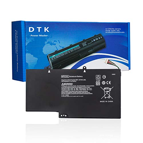 DTK Batería para Portátil HP Pavilion x360 13-a000 13-a002au 13-b105tu Envy x360 15-u010dx 15-u030nd Reemplazo para NP03XL TPN-Q146 TPN-Q147 TPN-Q148 (3700mAh 11.4V 43Wh)