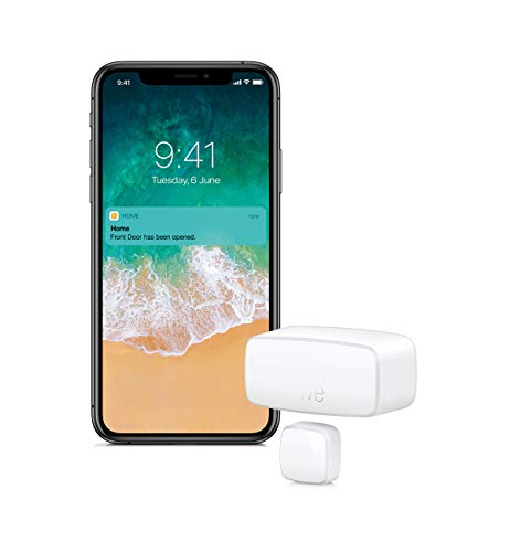 Eve Door & Window - Sensor inalámbrico de Contacto, Bluetooth Low Energy, Non occorrono Bridge o Gateway, Blanco (Apple HomeKit)