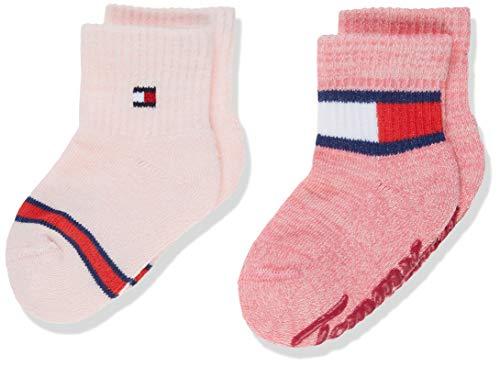 Tommy Hilfiger Unisex Baby TH 2P RUN FREE ABS Socken, Mehrfarbig (Pink Combo 174), 23-26 (Herstellergröße: 023) (2er Pack)
