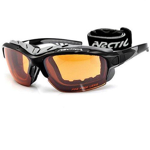 Arctica Cyclone - Gafas de sol para esquí (correa y puente intercambiables, antivaho, esponja a lo largo de la barra superior) gris negro/gris