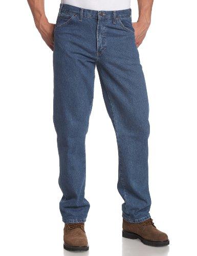 Dickies Men's Big & Tall Regular-Fit Five-Pocket Work Jean, 48x30, Stone Washed Indigo Blue