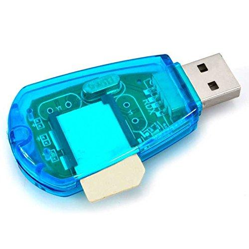 Ociodual Standard USB SIM Karten Leser Kartenleser Card Reader Lesegerät für Handy PC Neu