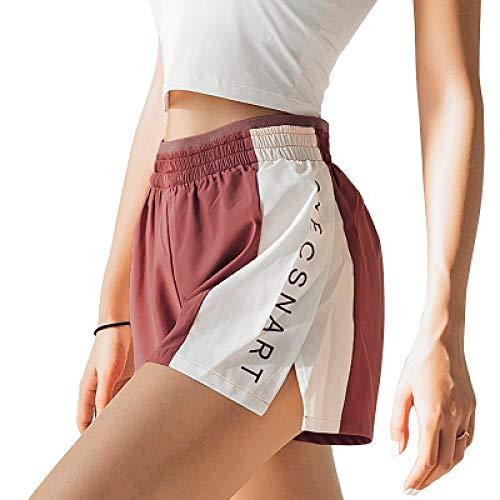 Corumly Pantalones Cortos para Mujer Moda con Estampado de Personalidad Ocio Cordón Pantalones Cortos de Cintura elástica Pantalones Cortos Deportivos de Secado rápido para Correr al Aire Libre L