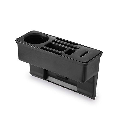 ourleeme Auto Konsole Seitentasche Sitz Fugendüse Organizer mit Coin Box und Wasser Cup Holder für Handy Karte Zigaretten