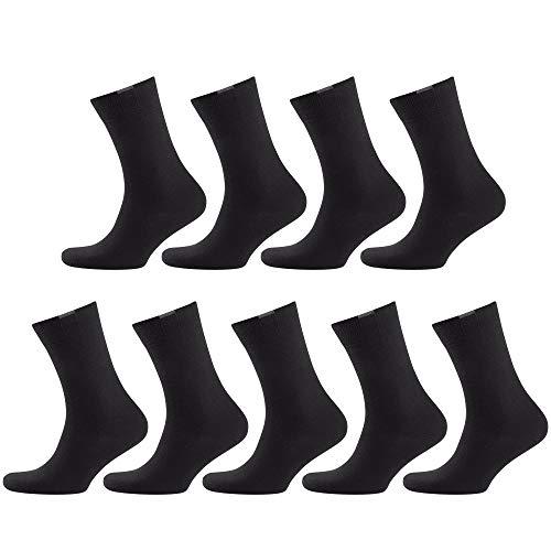 NUR DER Herren Passt Ideal 9er Pack Socken, schwarz, 39-42