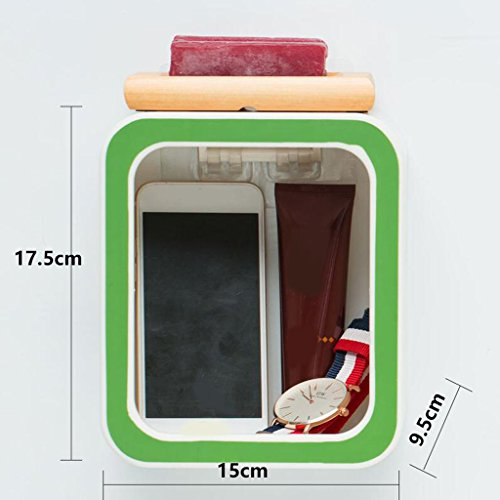 Tapis de bain Xuan - Worth Having Créative numéro 0 Style Porte-Savon Vert Ventouse Type étagère