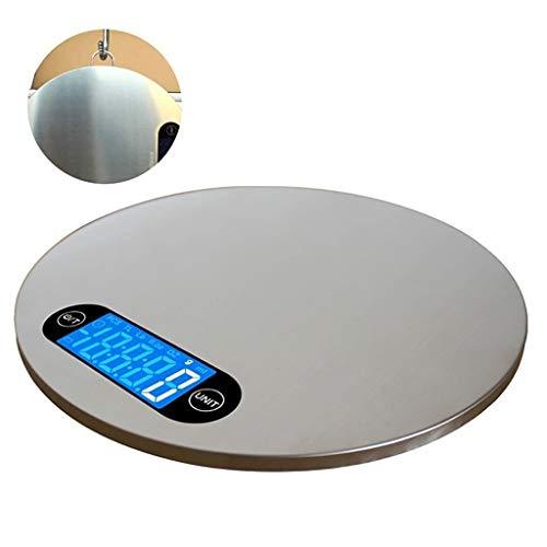 WCX Digitale keukenweegschaal, 0,5 g tot 30 kg, LCD-display, roestvrij staal, zeer nauwkeurige sensoren (An der Wand monteerbaar) 6kg/1g zilver