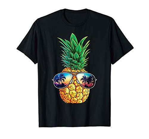 Pineapple Sunglasses Funny Aloha Beaches Hawaiian Hawaii T-Shirt