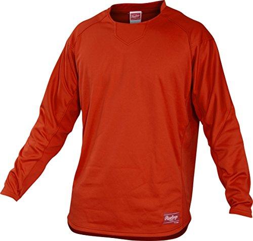 Rawlings Adult Dugout Fleece Pullover, Medium, Burnt Orange