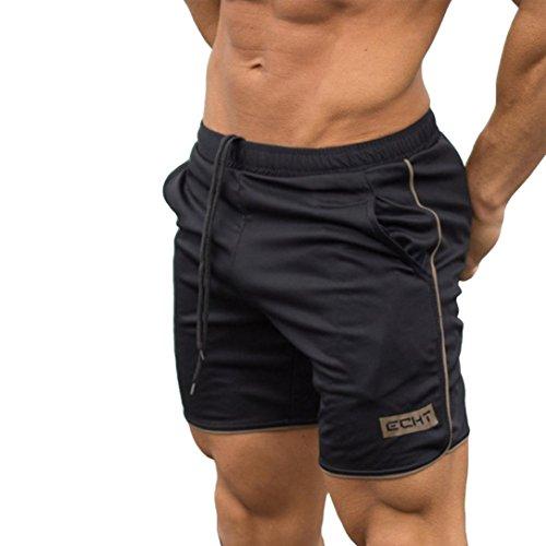 KOLY Pantaloni Sportivi da Allenamento per Uomo Bodybuilding Pantaloncini Estivi Pantaloni Corti da Allenamento Outdoor Ciclismo Running Cargo Pantaloncini Vintage Elegante Pantaloncini (Gold, M)