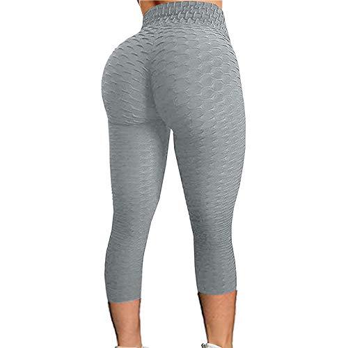 Mallas de Deportivos de Mujer,Leggings Push Up Mujer Mallas Pantalones Deportivos Alta Cintura Elásticos Yoga Fitness,Pantalones Deportivos de Elásticos Fitness Pilates