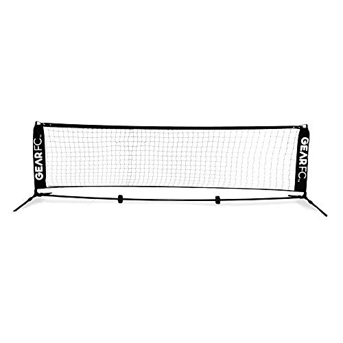 Gear FC All-Surface Soccer Tennis Net with Stability Springs- 9.8 Feet | 3 Meters Wide -Portable with Carrying Bag