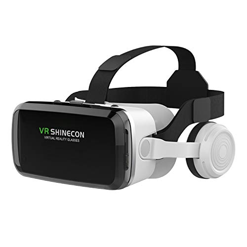 VR Headset with Wireless Headphones, Peiloh Virtual Reality Headset for VR Videos Games, VR Glasses 3D Goggles Headset Compatible with iPhone & Android Phone(2021 Version)