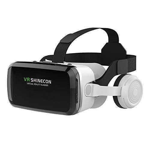 Peiloh - Auriculares de realidad virtual con auriculares inalámbricos, auriculares de realidad virtual para videojuegos de realidad...