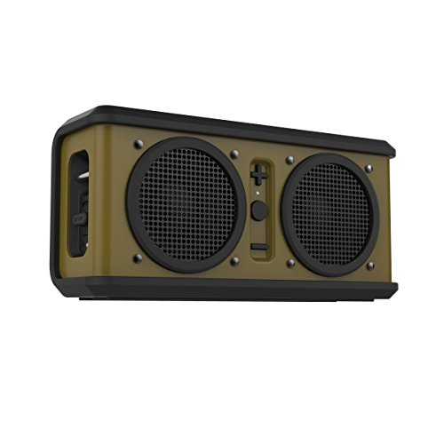 Skullcandy Air Raid Water-resistant Drop Proof Bluetooth Portable Speaker, Olive Green and Black