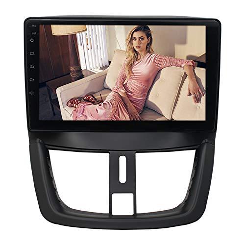 ADMLZQQ 2 DIN Autoradio per Peugeot 207 Touchscreen Bluetooth Stereo Radio Supporto FM/Vivavoce Bluetooth/Collegamento Mirror/Comandi al Volante,WiFi,1+16G