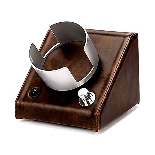 Soporte de reloj Reloj Windoer - Reloj de cuero retro Shaker Silent Motor Watch Blinding Caja de enrollamiento Multi-Gear Mecanical Watch Dispositivo de giro Doble-Power Watch Caja de almacenamiento c