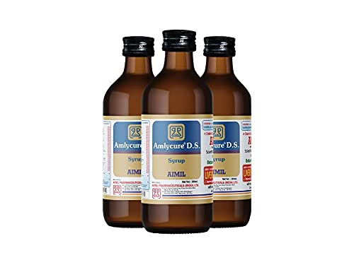 AIMIL Amlycure D.S. Syrup for Liver Health – Natural Liver Herbal Tonic | Improves Cell Function and Increases Immunity| 200 ML (Pack of 3)
