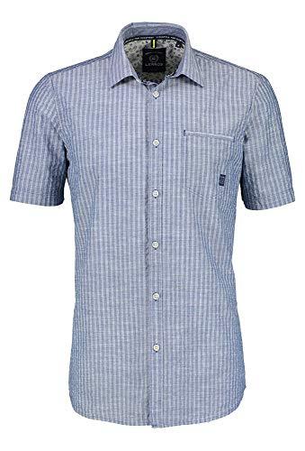 LERROS Herren Kent SEERS.SLUB Freizeithemd, Blau (REAL Blue 455), XXX-Large (Herstellergröße:XXXL)