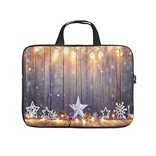 Merry Christmas Star Laptop Bag Waterproof Laptop Briefcase Design Notebook Bag for University Work Business
