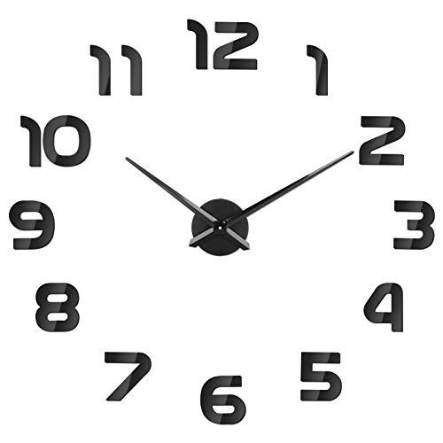 SOLEDI Reloj de Pared 3D DIY Reloj de Etiqueta de Pared...