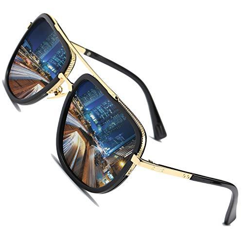 SHEEN KELLY Gafas de sol de los hombres polarizados marco de magnesio de aluminio conducción gafas de sol UV400 gafas de luz