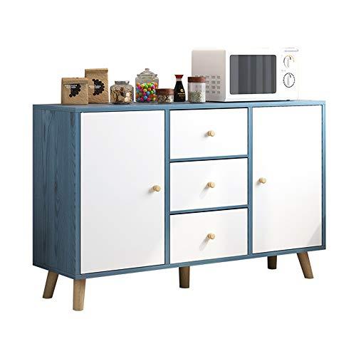 Vobajf Aparador Aparador Buffet Servidor de Almacenamiento Principal Cocina Comedor Muebles Puerta de Entrada Armario (Color : Azul, Size : 100x30x85cm)