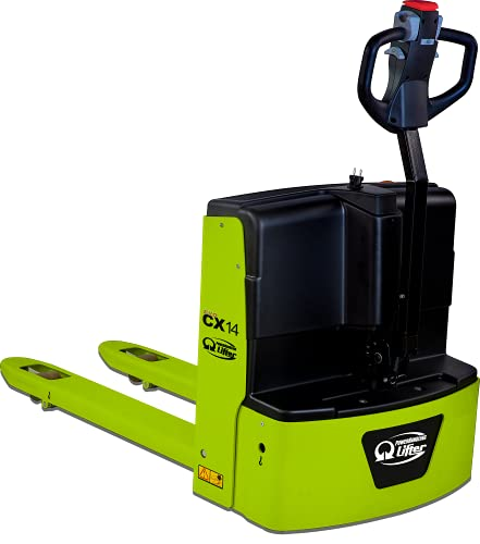 """CX14 Electric Pallet Jack Truck Lithium Battery 3100lbs Capacity 48"""" Length x 27"""" Width Fork Size"""