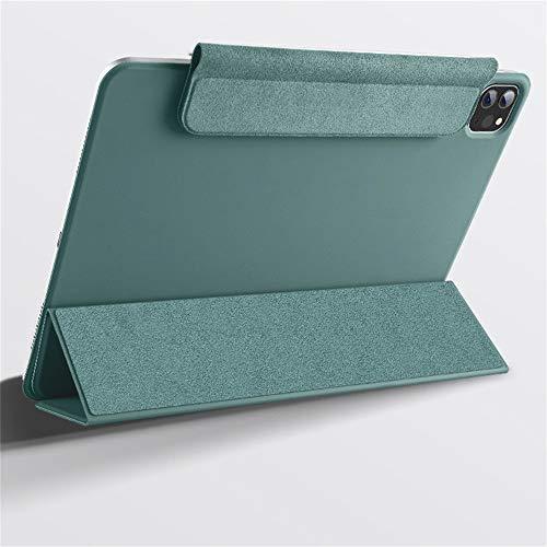Webla Estuche protector magnético Protector de pantalla completa para Ipad Pro 12.9 pulgadas(verde oscuro)