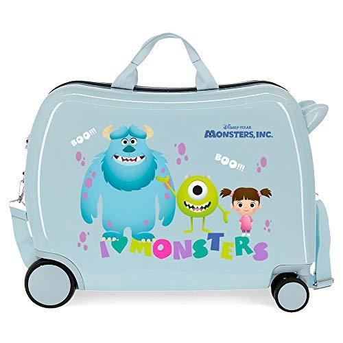 Disney Boo! Maleta Infantil Azul 50x38x20 cms Rígida ABS Cierre de combinación Lateral 34L 3 kgs 4 Ruedas Equipaje de Mano