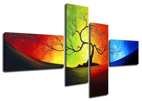 """Pictures on canvas length 63"""" height 27"""" (handpainted look Nr 6510) ready to hang, brand original Visario !"""