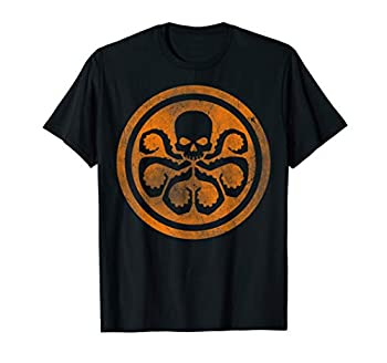 Marvel Hydra Skull Octopus Logo Orange Cut-Out T-Shirt