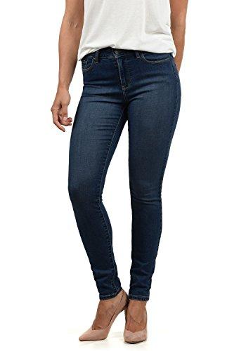 VERO MODA Diamant Damen Jeans Denim Hose Strech Mid-Rise, Größe:XS/ L32, Farbe:Dark Blue