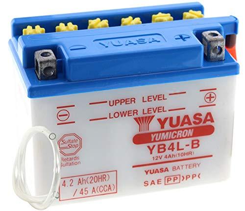 Batterie YUASA YB4L-B (DC) offen ohne Säure, 12V|4Ah|CCA:45A (121x71x93mm) für Aprilia SR50 www Baujahr 1999