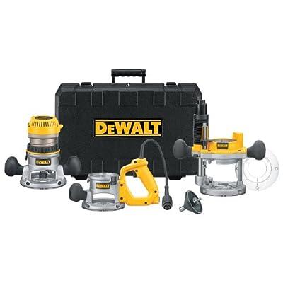 DEWALT DW618B3 12 Amp 2-1/4 Horsepower Plunge Base and Fixed Base by Dewalt