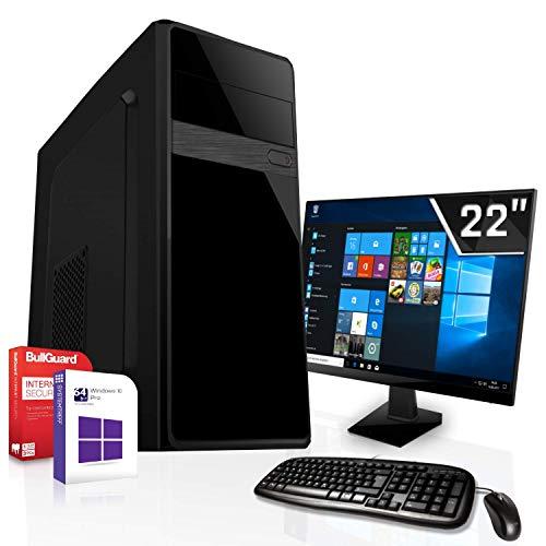Komplett PC Set Office/Multimedia inkl. Windows 10 Pro 64-Bit! - Quad-Core Intel Celeron J1900 4X 2,42GHz Turbo - Intel HD Graphics - 8GB DDR3 RAM - 120GB SSD - 22 Zoll TFT Monitor