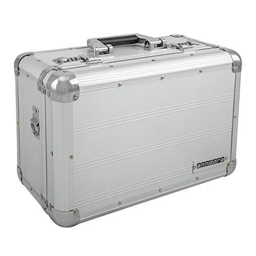 anndora Fotokoffer Silber Kamerakoffer 12 Liter mit Gurt Zahlenschlösser
